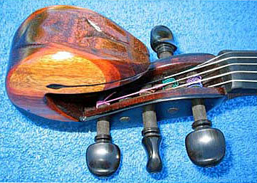 Oregon Black Walnut Electric Violin Top