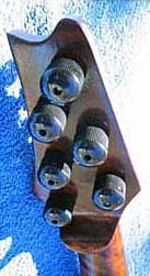 Oregon Storm Harvest Maple Electric Six String Violin Tailpiece Headstock Back