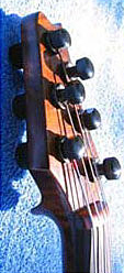 Oregon Storm Harvest Maple Electric Six String Violin Tailpiece Headstock Side