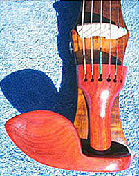 Oregon Storm Harvest Maple Electric Six String Violin Tailpiece Chin Rest