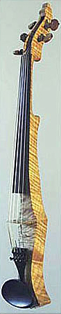 Oregon Tiger Striped Curly-Maple Electric Six String Violin Front