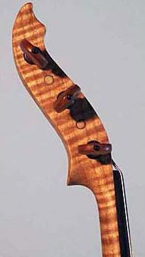 Oregon Tiger Striped Curly Maple Electric Six String Violin Peg Box Side