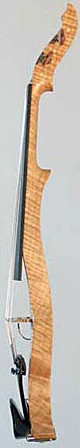 Oregon Tiger Striped Curly-Maple Electric Six String Violin Side