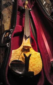Oregon Curly Maple Electric Five String Violin