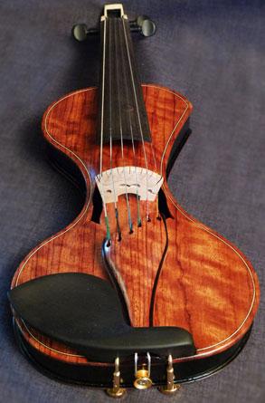 DBCV™ Six String Bubinga Wood Custom Electric Violin